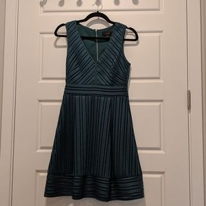 J. Crew Emerald Eyelet Fit and Flare Dress